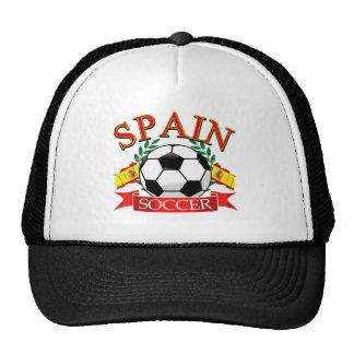 Spain soccer ball designs mesh hats