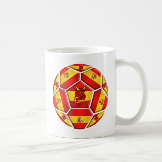 Spain soccer ball La Furia Roja Toro flags Basic White Mug