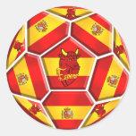 Spain soccer ball La Furia Roja Toro flags Stickers