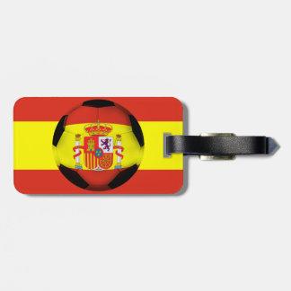 Spain Soccer Ball Luggage Tag