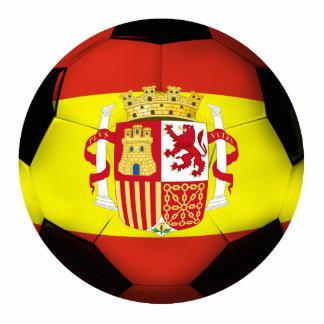 Spain Soccer Ball Standing Photo Sculpture