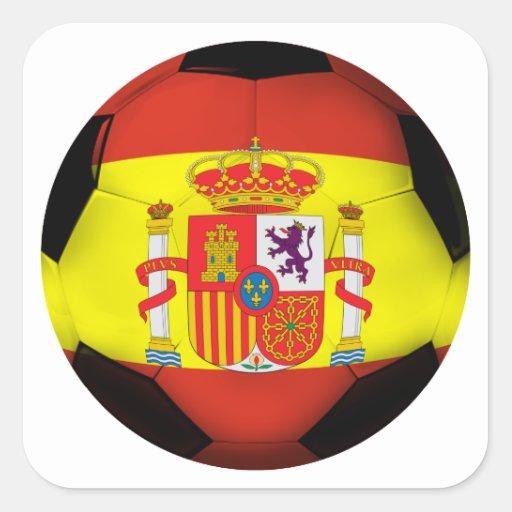 Spain Soccer Ball Sticker
