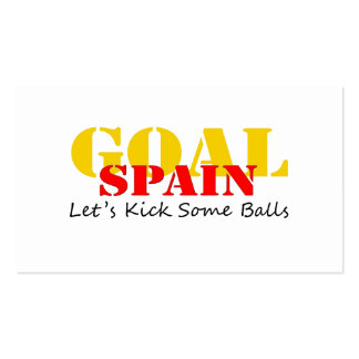 Spain Soccer Business Card Template