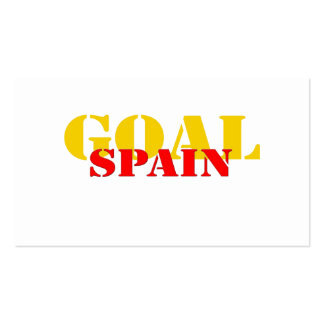 Spain Soccer Business Cards
