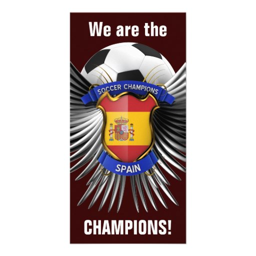 Spain Soccer Champions Photo Card Template