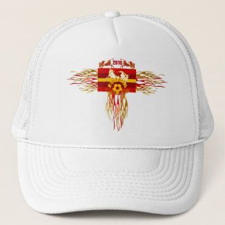 Spain soccer futbol fire logo tees and gifts trucker hat