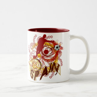 Spain soccer futbol Spanish art explosion Two-Tone Mug