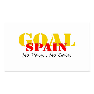 Spain Soccer Goal No Pain No Gain Pack Of Standard Business Cards