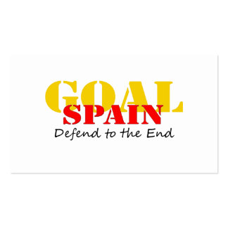 Spain Soccer Pack Of Standard Business Cards