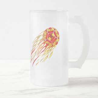 Spain Soccer T-shirts and gifts Frosted Glass Mug