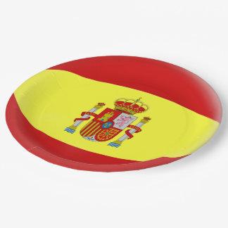 Spain Spanish Flag Paper Plate