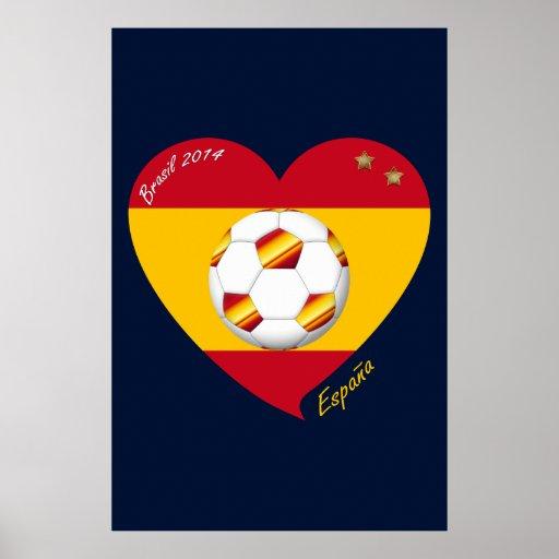 """Spain Spanish Football Soccer Team SOCCER """"SPAIN """" Poster"""
