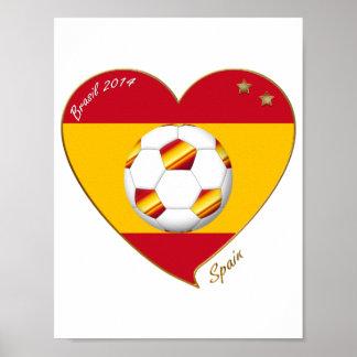 """""""SPAIN"""" Spanish FOOTBALL Soccer Team SPAIN SOCCER Poster"""