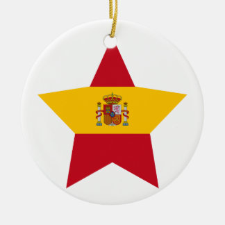 Spain Star Christmas Ornament