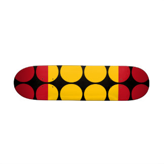 Spain Stylish Girly Chic : Polka Dot Spanish Flag Custom Skate Board