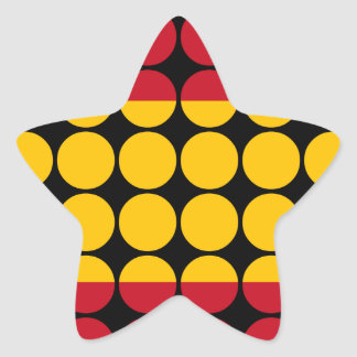 Spain Stylish Girly Chic : Polka Dot Spanish Flag Star Sticker
