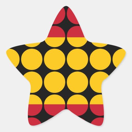 Spain Stylish Girly Chic : Polka Dot Spanish Flag Sticker