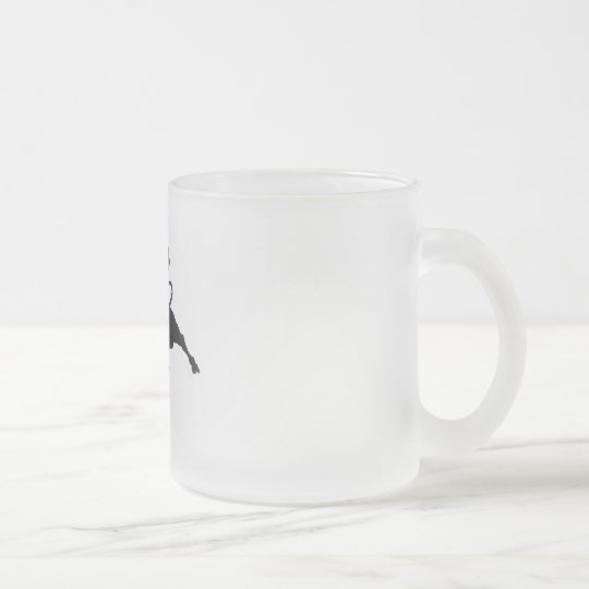 Spain Torro Salvaje Frosted Glass Coffee Mug