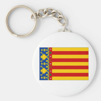 Spain Valencia Flag Key Ring