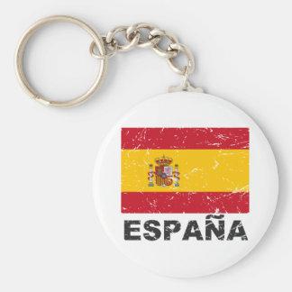 Spain Vintage Flag Key Chain