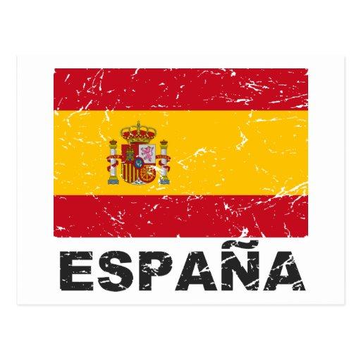 Spain Vintage Flag Post Card