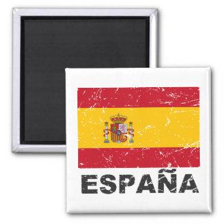 Spain Vintage Flag Square Magnet