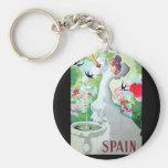 Spain Vintage Image Key Chains