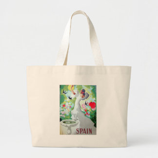 Spain Vintage Image Large Tote Bag