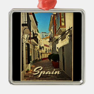 Spain Vintage Travel Christmas Ornament