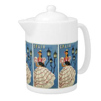 SPAIN Vintage Travel teapot