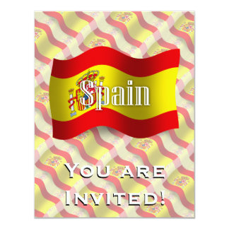 Spain Waving Flag Card