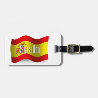 Spain Waving Flag Luggage Tag