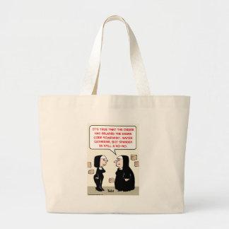 spandex nuns no-no dress code canvas bags