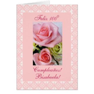 Spanish: 100 años - bisabuela greeting card