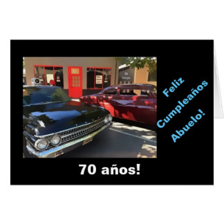 Spanish: 70th cumpleaños del abuelo greeting card
