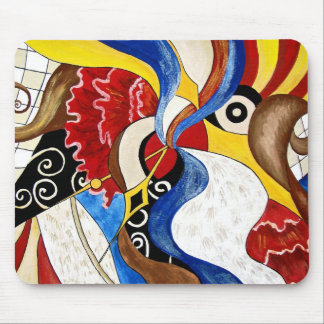 Spanish abstract art painting mouse mat
