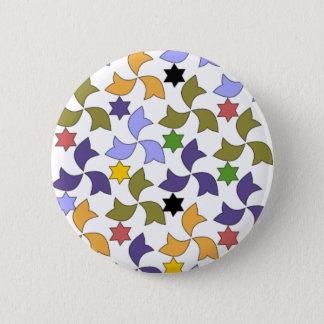 Spanish Alhambra style Tile Mosaic Pattern 6 Cm Round Badge