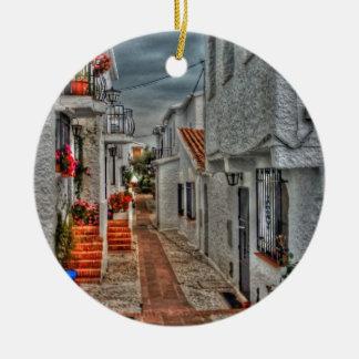 Spanish Alleyway Christmas Ornament