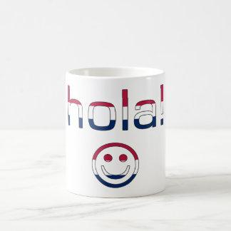 Spanish American Gifts  Hello / Hola + Smiley Face Basic White Mug