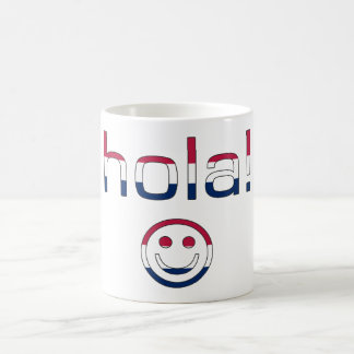 Spanish American Gifts  Hello / Hola + Smiley Face Coffee Mug