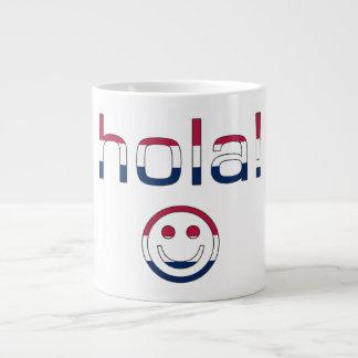 Spanish American Gifts  Hello / Hola + Smiley Face Jumbo Mug