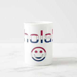 Spanish American Gifts Hello Hola + Smiley Face Porcelain Mugs