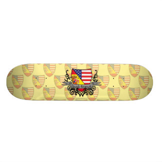 Spanish-American Shield Flag Skateboard Deck