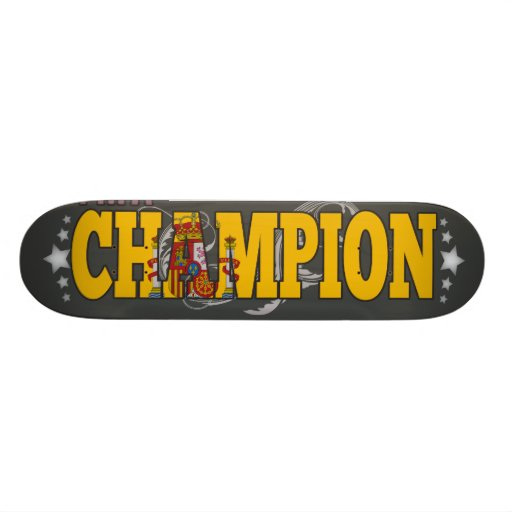 Spanish and a Champion Skate Board