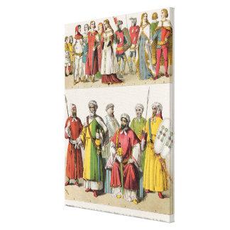 Spanish and Moorish Dress Canvas Print