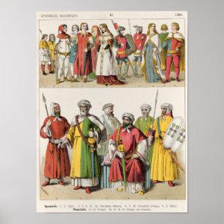 Spanish and Moorish Dress Poster
