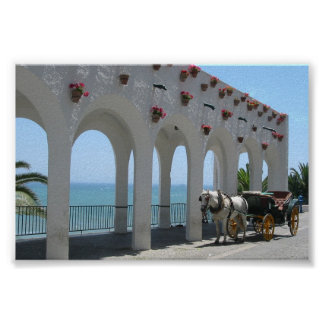 Spanish Arches & Carriage Poster