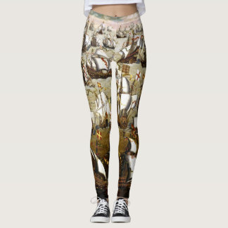 Spanish Armada and English Ships in 1588 leggings