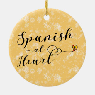 Spanish At Heart Holiday Decoration, Spain Christmas Ornament