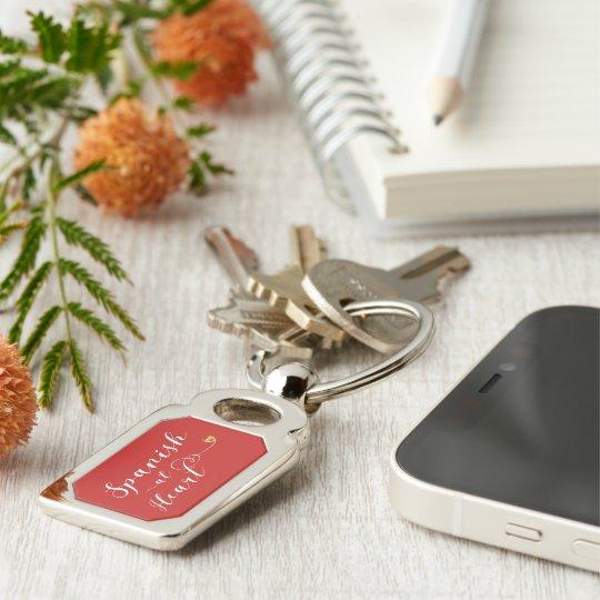 Spanish At Heart Keyring, Spain Key Ring